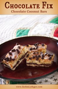 "Who wants some easy-peasy Chocolate Coconut Bars? I am super big on ""easy,"" and this little number is on the list. Not quite one bowl, but painless enough—and tasty enough—to add to my family's ""triple diple do-over"" list. I've always been a fan of Mounds Bars, and this recipe has a little of that going on, but not nearly so sweet."