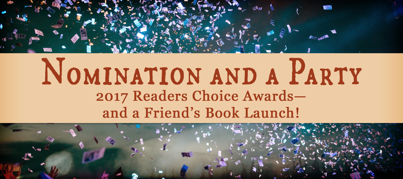 I don't know about you, but I can't believe this year is almost at an end! Got a snack and a beverage? Good, because I have some fun stuff lined up for you! It's time for a nomination AND a party…