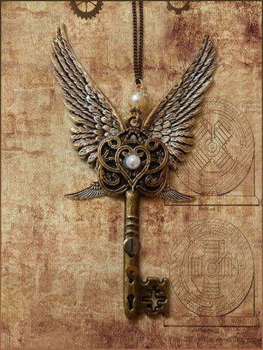 Steampunk Key Necklace, by nedacat (DeviantArt)