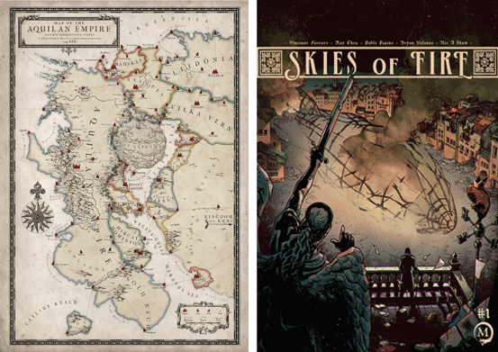 Skies of Fire (Map and Book)