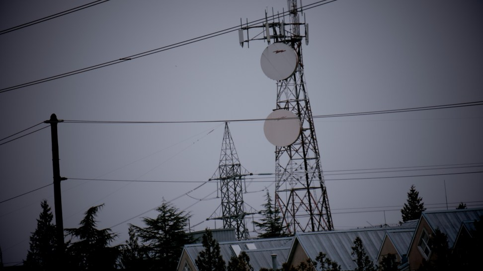 Microwave and LTE tower