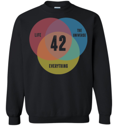venn diagram life the universe everything life meaning is 42 tshirt  [ 1155 x 1155 Pixel ]