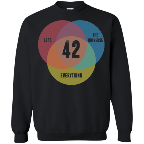 small resolution of venn diagram life the universe everything life meaning is 42 tshirt