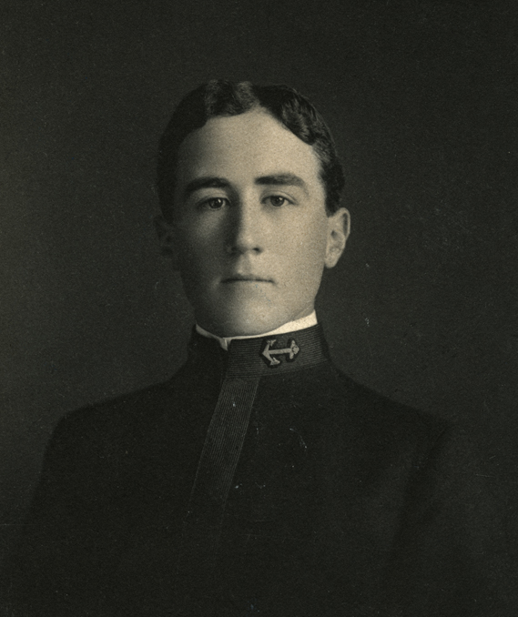 James N. Sutton, Jr. as a midshipman, c. 1904.