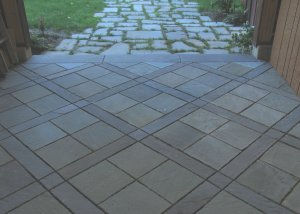 typical flagstone paving patterns