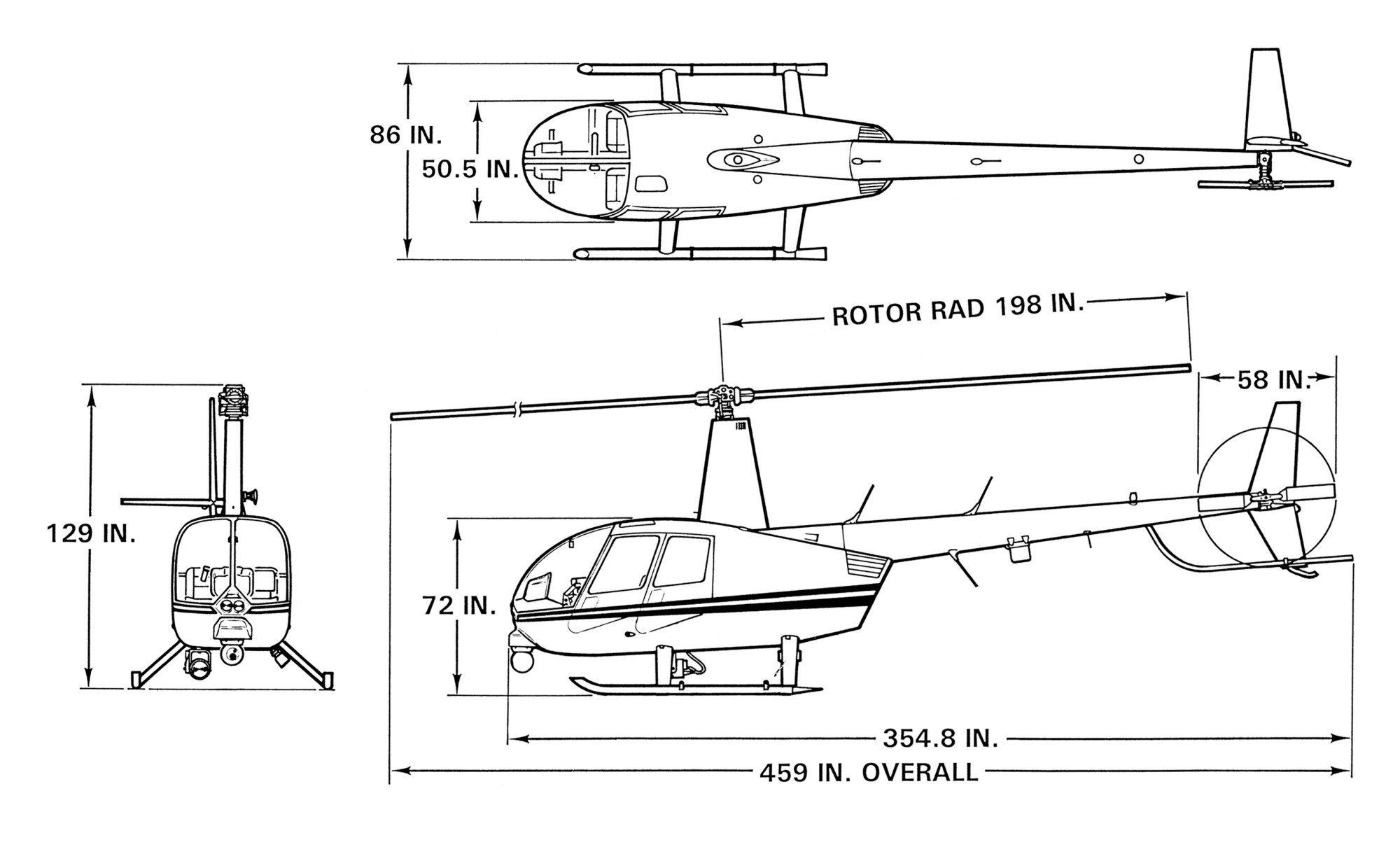 hight resolution of r44 police helicopter dimensions