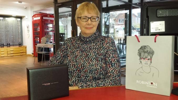 Robinson Optometrist customers Linda Gardham