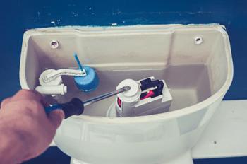 broken flush assembly