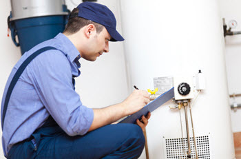 water heater inspection by plumber