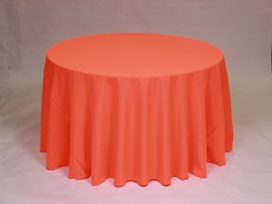 Neon Orange tablecloth, linen and napkin rentals in Hudson and Framingham, MA