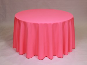 Neon Pink tablecloth, linen and napkin rentals in Hudson and Framingham, MA