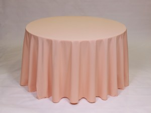 Peach tablecloth, linen and napkin rentals in Hudson and Framingham, MA