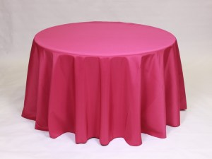 Raspberry tablecloth, linen and napkin rentals in Hudson and Framingham, MA