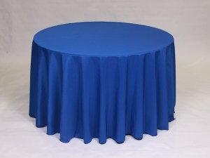 Royal Blue tablecloth, linen and napkin rentals in Hudson and Framingham, MA