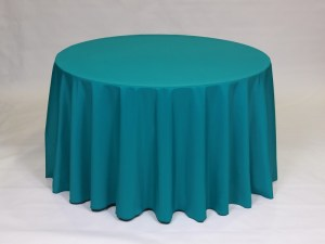 Teal tablecloth, linen and napkin rentals in Hudson and Framingham, MA