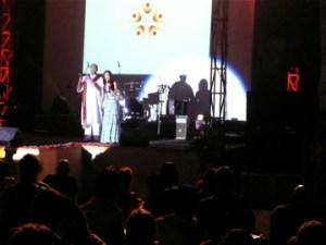 Masters of ceremony, Amsalan Doraisingam and Teresa Hererra, kick off the opening night ceremony