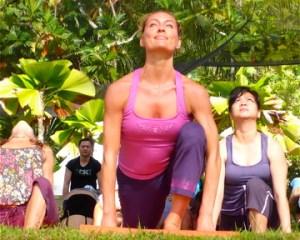 Renowned yogini, Katy Appleton, in this morning's kick off Yoga Mala