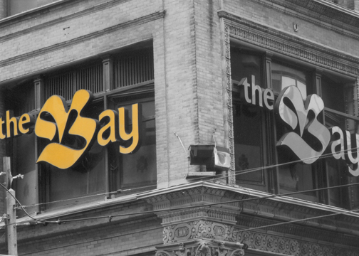 The old Bay store on Yonge Street