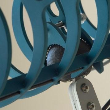 Product detail of lamp adjustment mechanism.