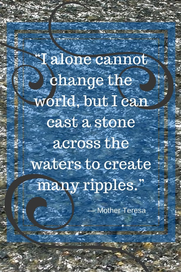 """I alone cannot change the world"