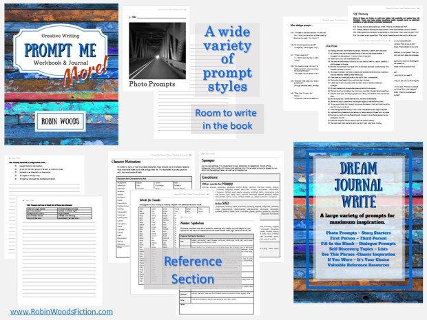 Prompt Me More: Creative Writing Workbook & Journal | by Robin Woods | Ignite your creativity