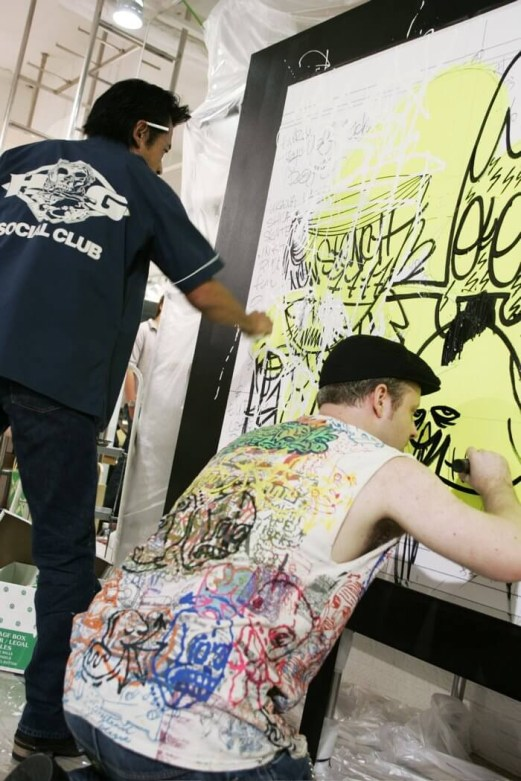 T.U.R.d Tokyo Ugly Rich designers-Logo design and Live painting with FISH as 'THE KIDIOTS' at GGPX Tokyo