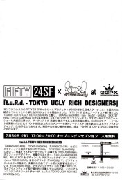 T.U.R.d Tokyo Ugly Rich designers-Logo design and Live painting with FISH(as THE KIDIOTS).Same canvas,cross out battle GGPX Tokyo