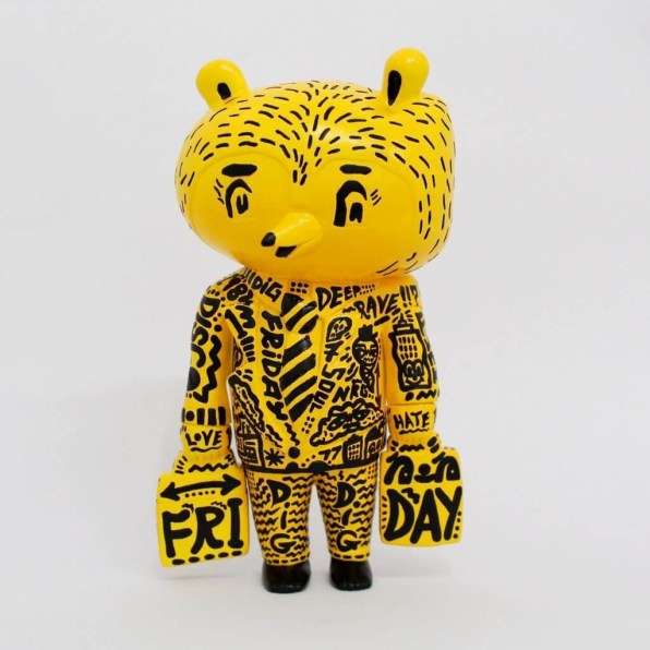 Hand painted 'Friday Bear' ④