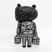 Hand painted 'Friday Bear' ⑥