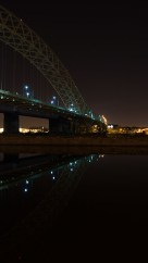 Runcorn-Windes bridge at night