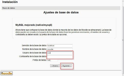 Estableciendo datos de MySQL