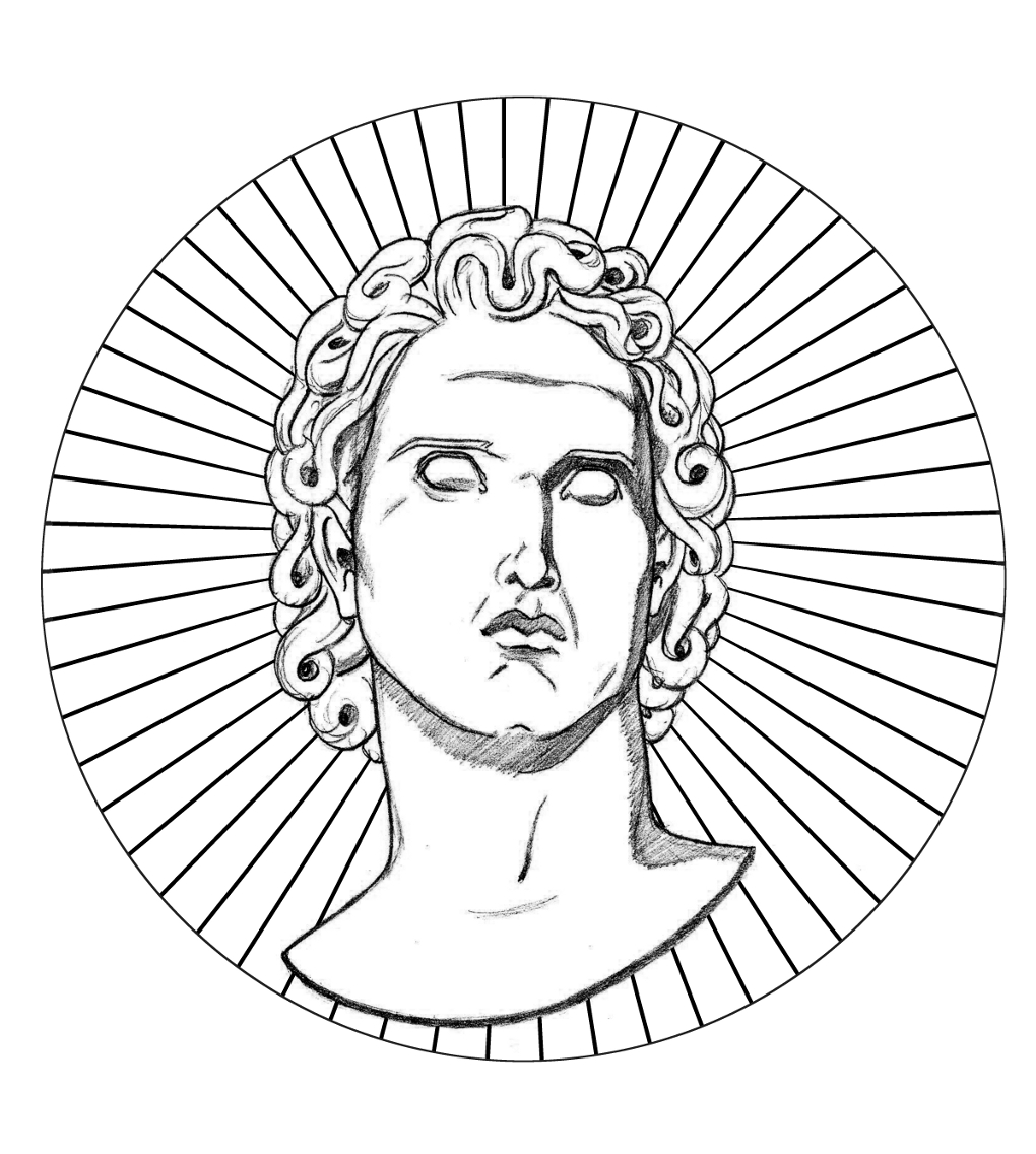 Helios Greek Rays Simple Circle Version 3