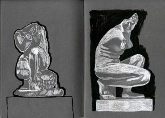 Aphrodites (watercolour crayon & ink - 21 x 29 cm)