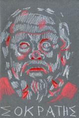 Socrates (watercolour crayon - 21 x 15 cm)