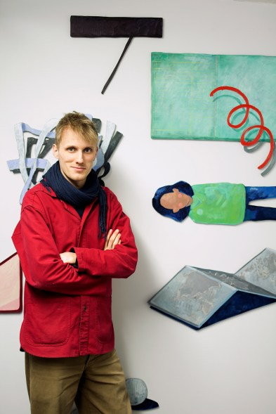 me with shaped paintings for web