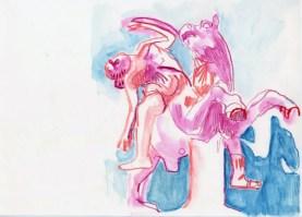 Amazon. Watercolour crayon on paper. 20 x 30 cm