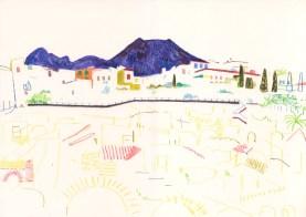 Herculaneum. Watercolour crayon on paper. 30 x 42 cm