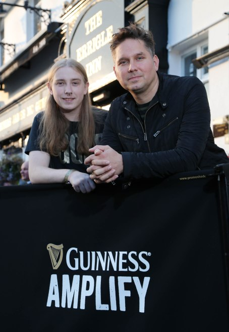 Picture by Darren Kidd / Press Eye. GUINNESS AMPLIFY GOES LIVE IN ULSTER Jonny Quinn, drummer with global sensation, Snow Patrol, and founder of Polar Patrol Publishing takes time out to catch up Chris Hanna of electronic music act UNKNWN, ahead of his gig at The Errigle as part of Guinness Amplify Live Surprise gig in Ulster. UNKNWN shared the stage with two of most highly acclaimed musicians of 2014, Disclosure and Duke Dumont who played surprise performances.