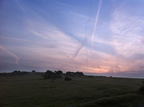 Dawn, East Hill Trig Point
