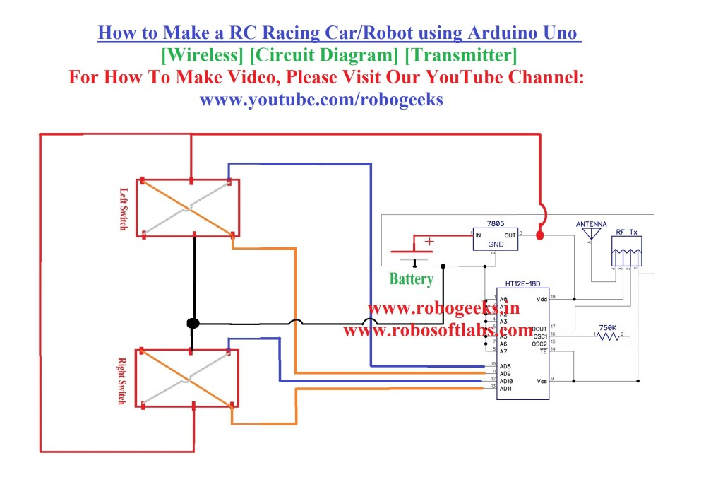 medium resolution of how to make a rc racing car using arduino uno wireless transmitter robogeeks