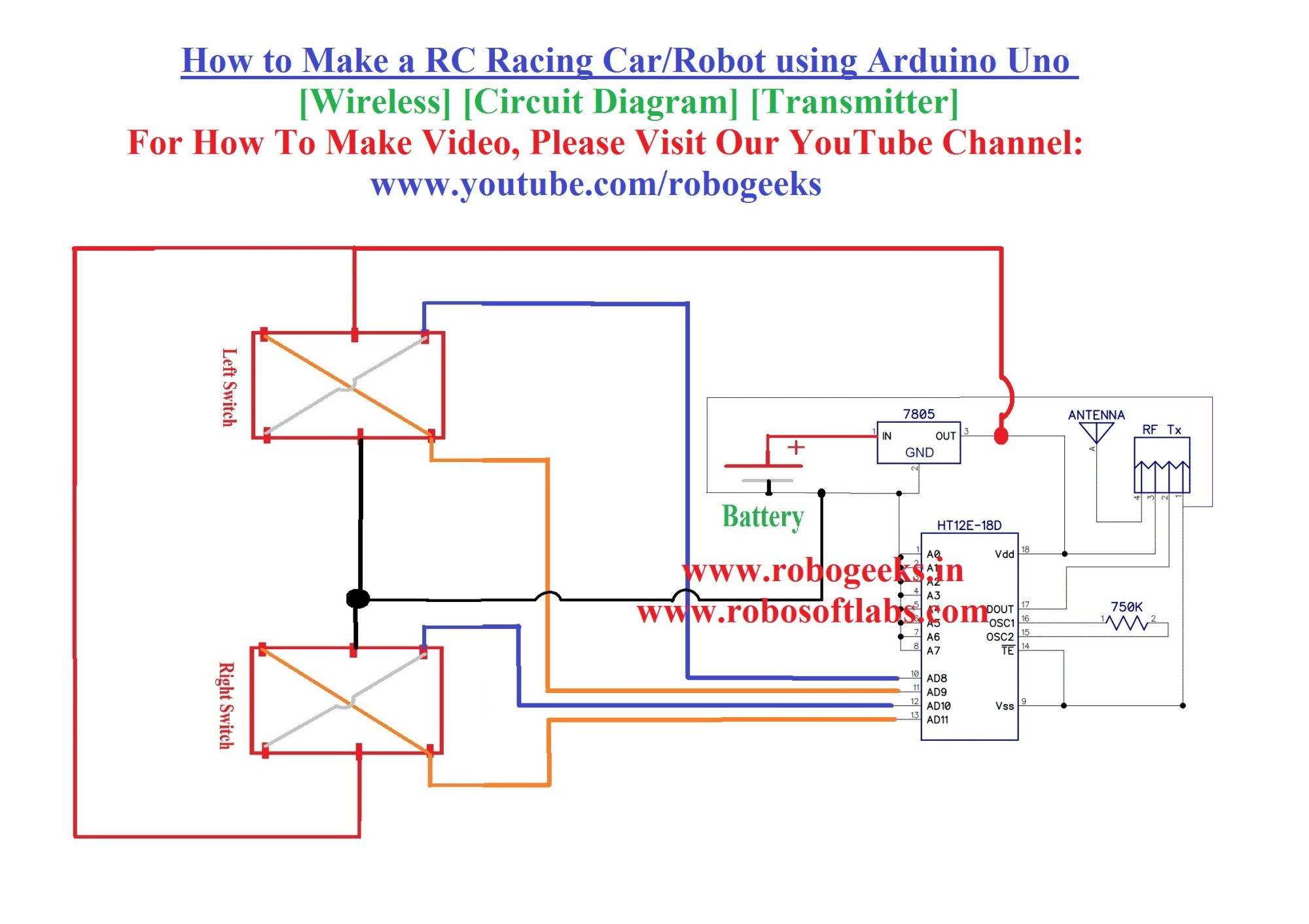 hight resolution of how to make a rc racing car using arduino uno wireless transmitter robogeeks