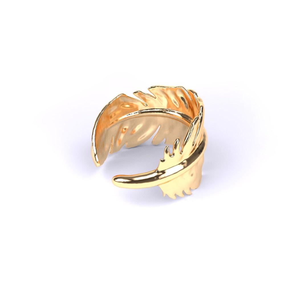3d-model van een ring in de vorm van een veer