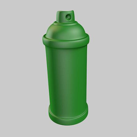 'Spray-Can', een speelstuk van het spel Streetopoly.