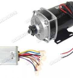 e bike dc geared motor 24v 530rpm 650w with controller [ 1066 x 800 Pixel ]