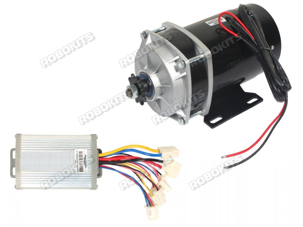medium resolution of e bike dc geared motor 24v 530rpm 650w with controller