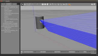 A velodyne sensor model with a mesh