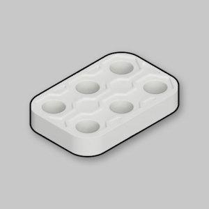 ロボットプログラミング 教材 ROBOTAMI 2x3パネル白