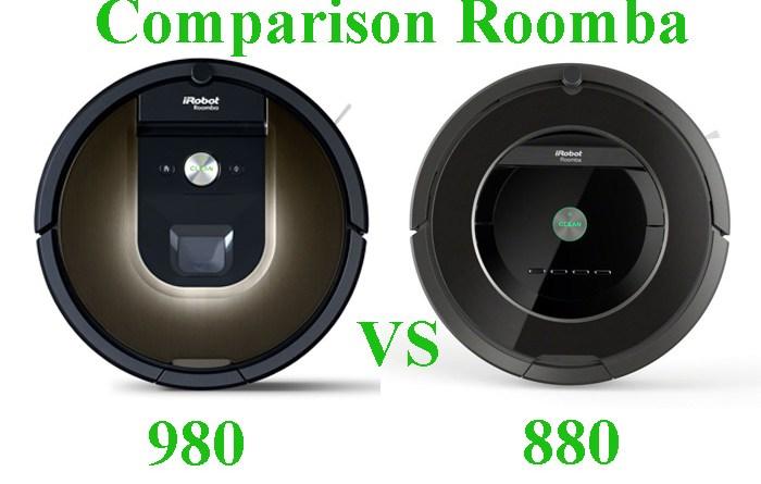 Comparison Roomba 980 vs 880