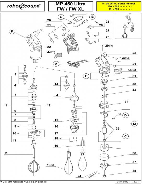 Robot Coupe Mp 450 Ultra. mixer mp 450 ultra robot coupe