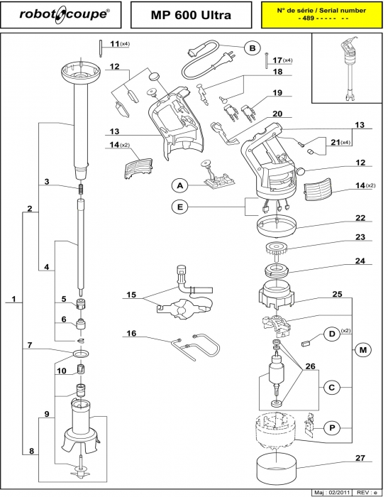 Robot Coupe R2 Dice Parts Manual